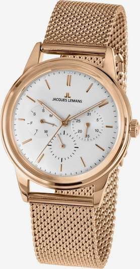 Jacques Lemans Uhr in rosegold / weiß, Produktansicht