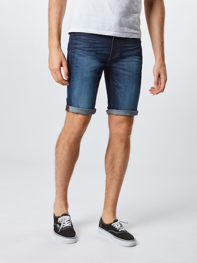 sötétkék BLEND Farmer 'Denim Shorts Twister Slim', Modell nézet
