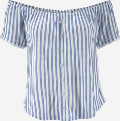 LASCANA Strandshirt in blau / weiß, Produktansicht