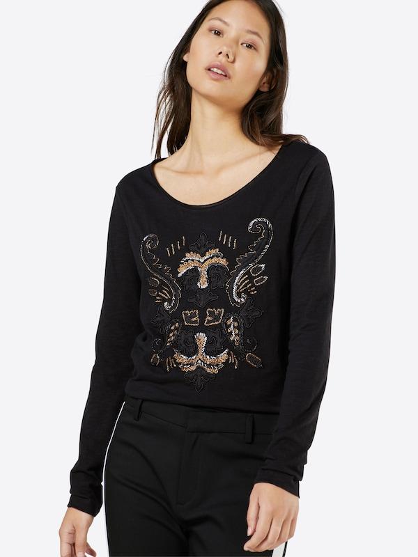 MOS MOSH Jerseyshirt 'Ziggy Embroidery'