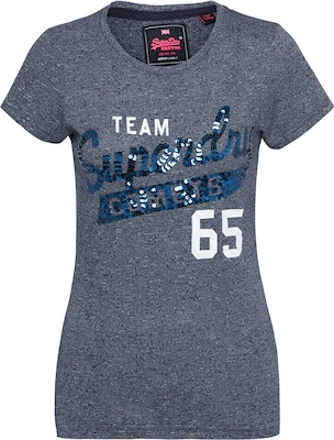 Superdry T-Shirt 'TEAM COMETS SEQUIN ENTRY'