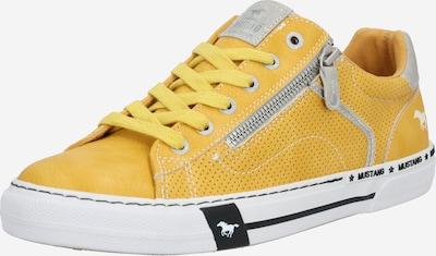 MUSTANG Sneaker in gelb / schwarz / weiß, Produktansicht