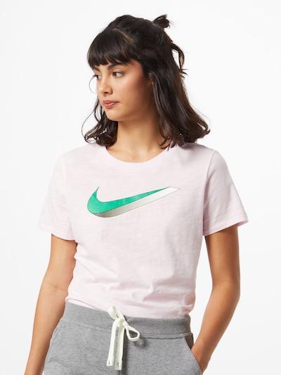 Nike Sportswear Tričko - zelená / púdrová: Pohľad spredu