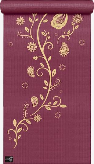 YOGISTAR.COM Yogamatte 'Indian Flower' in gold / rotviolett, Produktansicht