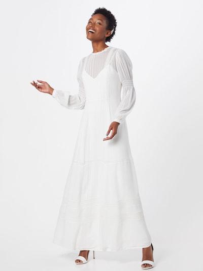IVY & OAK Avondjurk 'BRIDAL CHIFFON DRESS LONG' in de kleur Wit: Vooraanzicht