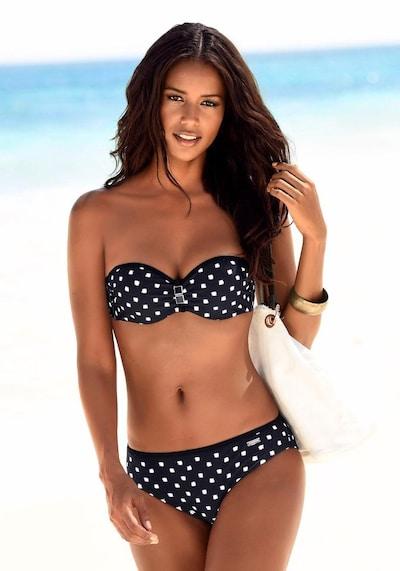 LASCANA Bikini w kolorze czarny / białym, Podgląd na modelu(-ce)