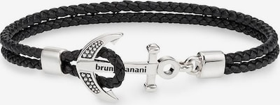 BRUNO BANANI Armband 'Anker' in schwarz / silber, Produktansicht