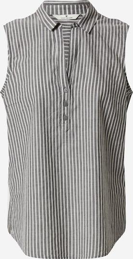 TOM TAILOR Blusentop in grau / weiß, Produktansicht