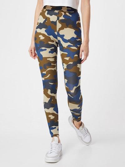 Urban Classics Leggings in beige / marine / dunkelblau / khaki, Modelansicht