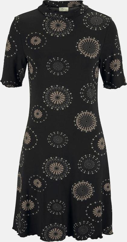 BOYSEN'S Boysen's Jerseykleid in taupe   schwarz  Große Preissenkung