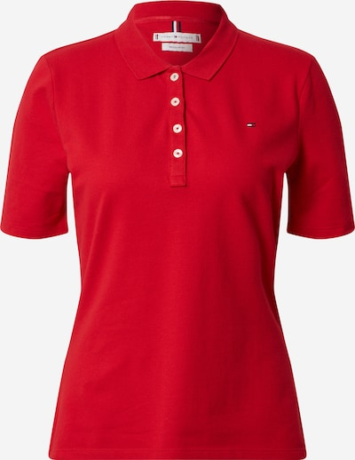 TOMMY HILFIGER Poloshirt 'TH ESSENTIAL REG POLO SS' in rot, Produktansicht