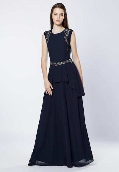 Young Couture by BARBARA SCHWARZER Kleid in dunkelblau: Frontalansicht