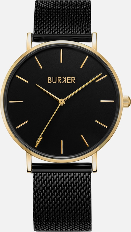 BURKER Watches Uhr 'Ruby Black Gold' in gold / schwarz, Produktansicht