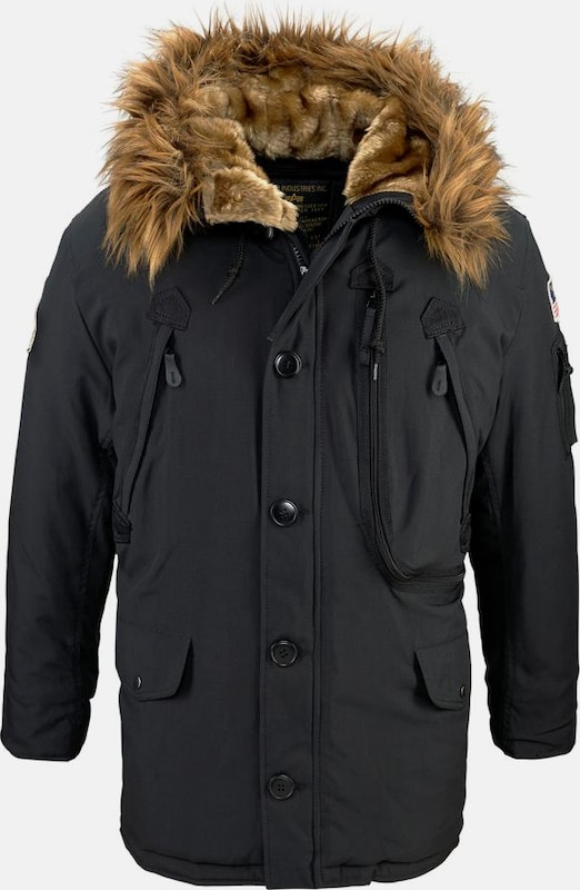 ALPHA INDUSTRIES Jacke 'Polar' in schwarz, Produktansicht