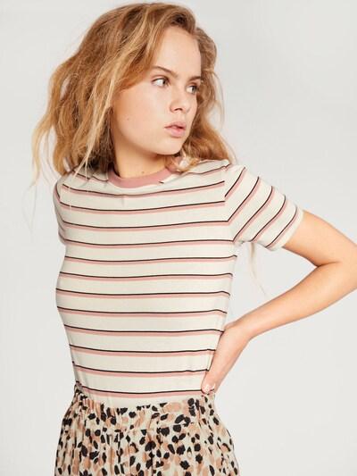 EDITED Koszulka 'Leila' w kolorze różowy / białym: Widok z przodu