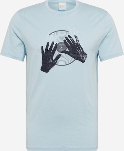 ARMEDANGELS Koszulka 'JAAMES DJ HANDS' w kolorze niebieska noc / jasnoniebieskim: Widok z przodu