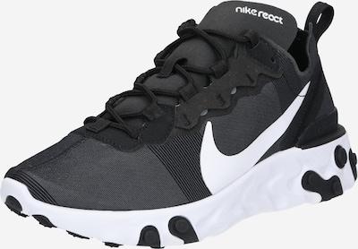 Nike Sportswear Ниски сникърси 'React 55' в черно / бяло, Преглед на продукта