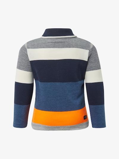 TOM TAILOR Poloshirts Gestreiftes Poloshirt in blau / grau / orange / weiß, Produktansicht