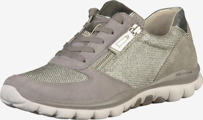 GABOR Sneaker in taupe / rauchgrau / silber: Frontalansicht