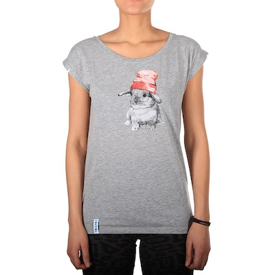 Iriedaily Shirt 'It Hasi' in grau / rostrot: Frontalansicht