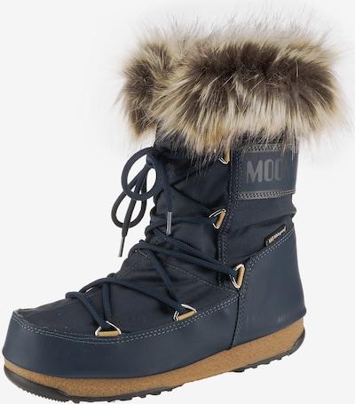 MOON BOOT Stiefel in beige / navy / braun, Produktansicht