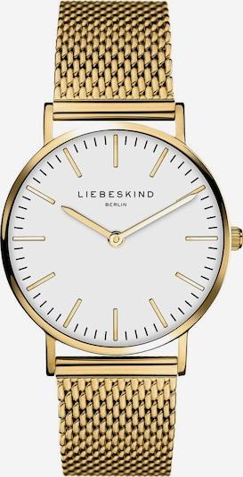 Liebeskind Berlin Uhr 'New Case' in gold / weiß, Produktansicht