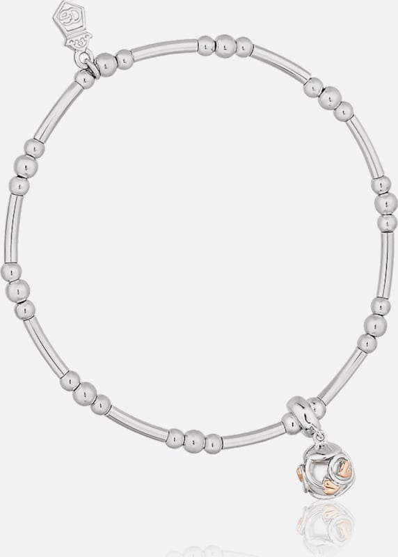CLOGAU Armband 'Tree of Life' in rosegold / silber: Frontalansicht