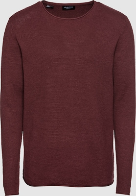 SELECTED HOMME Trui 'SLHROCKY CREW NECK B' in Wijnrood