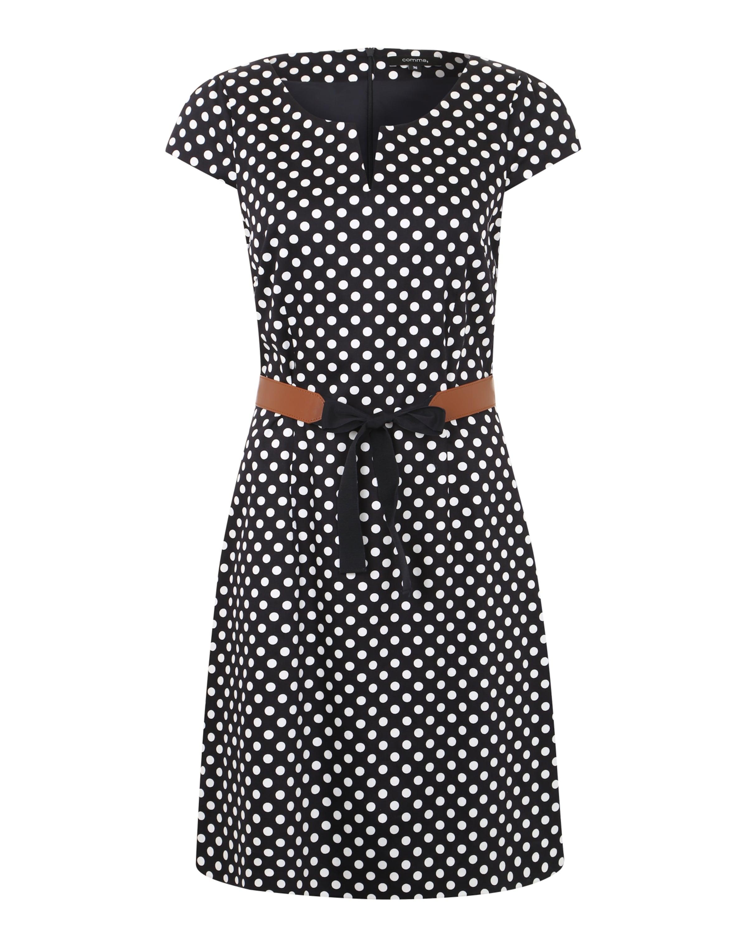 Shop Für Verkauf COMMA Kleid mit schönem Punktemuster Bester Verkauf Zum Verkauf  Wie Viel Günstig Kaufen Steckdose Modische YHjmjeMQlO