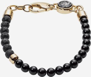 DIESEL Bracelet 'Stackables' in Black