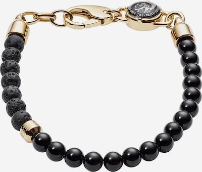 DIESEL Armband 'Stackables' in gold / schwarz, Produktansicht