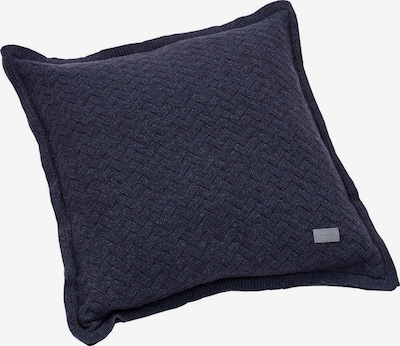 GANT Kissenhülle 'Fishbone' in nachtblau: Frontalansicht