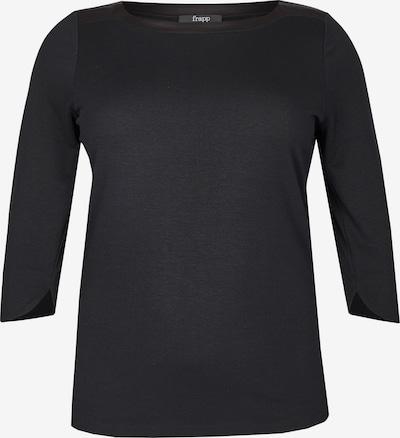 FRAPP Elegantes Shirt schimmernden Einsätzen in schwarz, Produktansicht