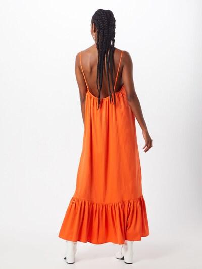 Y.A.S Jurk 'YASLEORA STRAP MAXI DRESS FT' in de kleur Sinaasappel: Achteraanzicht