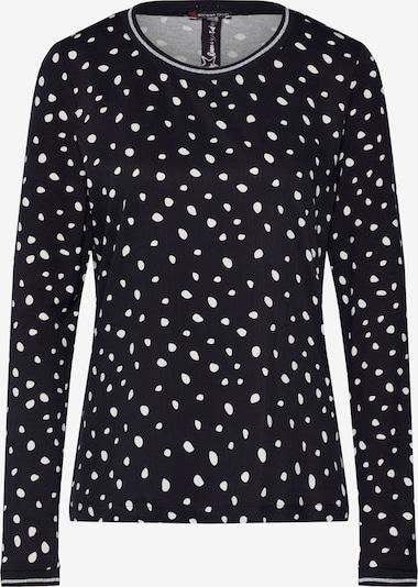 STREET ONE Shirt 'printed mat mix shirt w. tape' in schwarz, Produktansicht