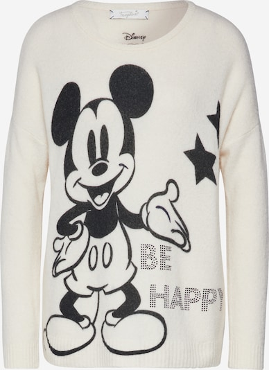 Frogbox Sweter 'Mickey' w kolorze czarny / białym, Podgląd produktu