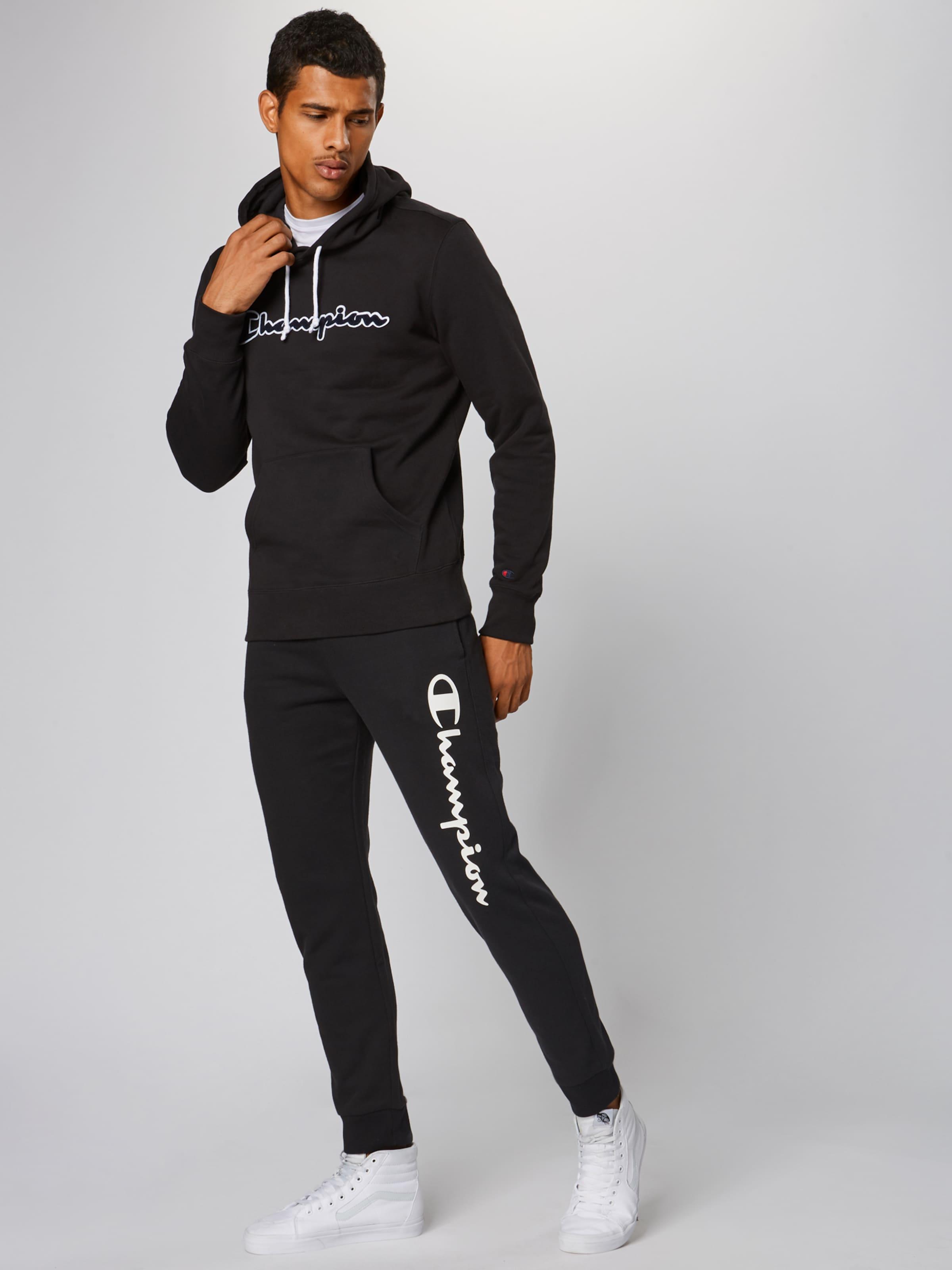 Athletic Cuff En Apparel Noir Authentic 'rib Champion Pantalon Pants' D92WIeEHY