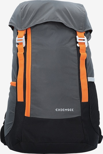 CHIEMSEE Rucksack in dunkelgrau / orange / schwarz, Produktansicht
