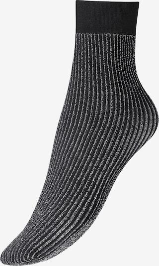 Wolford Socke 'Dora' in schwarz / silber, Produktansicht