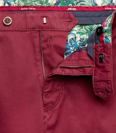 Meyer Hosen Jeans 'Bonn' in dunkelrot, Produktansicht