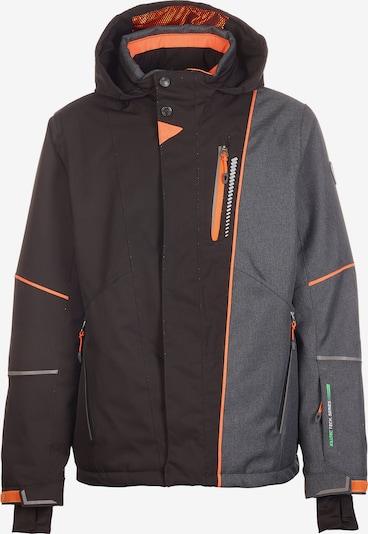 KILLTEC Skijacke 'YOAN' in grau / dunkelorange / schwarz, Produktansicht