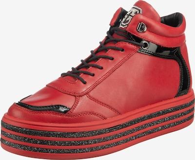 tizian Schnürstiefelette 'Pavia' in rot / schwarz, Produktansicht