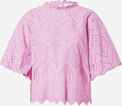 Neo Noir Bluse 'Riko Embroidery Blouse' in magenta, Produktansicht