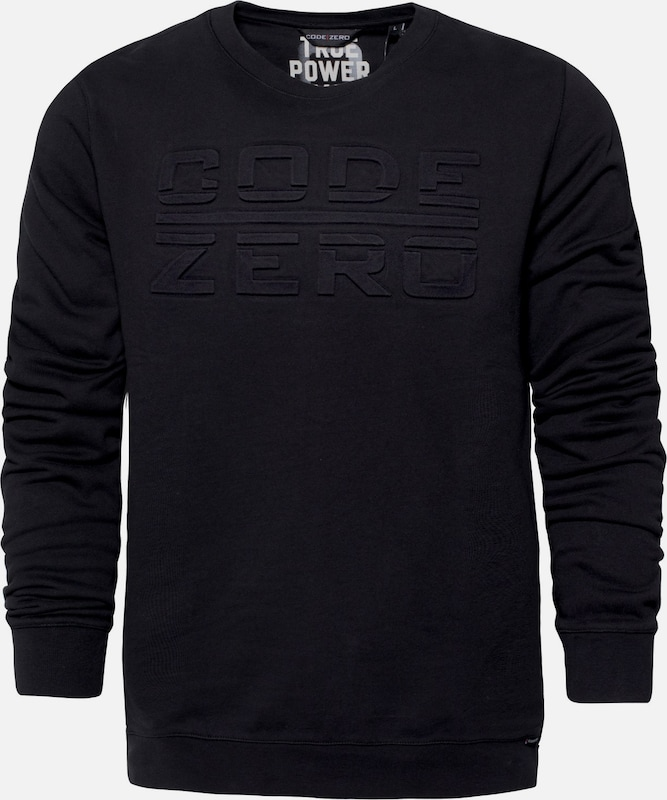 CODE-ZERO Sweatshirt 'TACK' in schwarz  Markenkleidung für Männer und Frauen