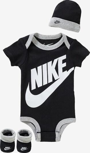 Nike Sportswear Set 'FUTURA' in graumeliert / schwarz / weiß, Produktansicht