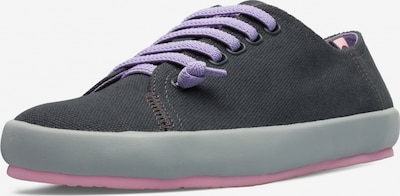 CAMPER Sneaker 'Peu Rambla' in basaltgrau / dunkellila: Frontalansicht