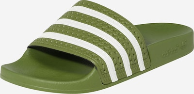 ADIDAS ORIGINALS Mule 'Adilette' in olive / white, Item view
