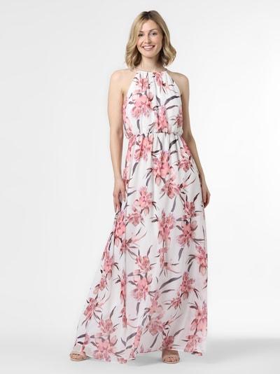 Marie Lund Abendkleid in pink / weiß: Frontalansicht