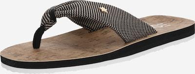fekete ESPRIT Ujjelválasztó-pántos szandál 'Frida Zigzag ', Termék nézet