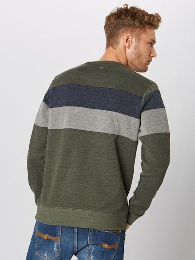 Petrol Industries Sweatshirt in de kleur Kaki: Achteraanzicht